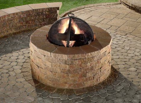 Atlantic Mulch Firepit