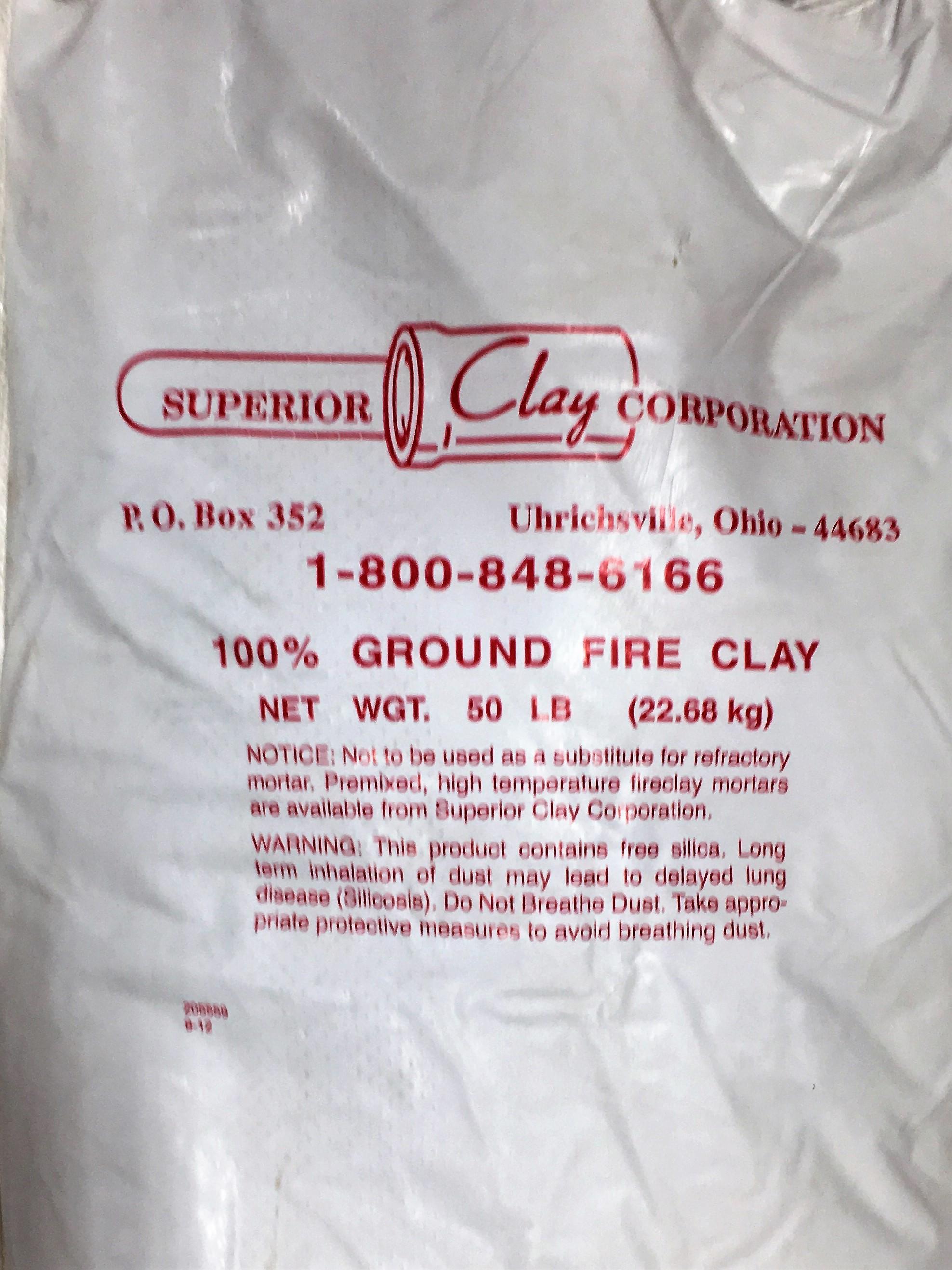 Fire Clay 50 Lb Bag : Fire clay atlantic mulch