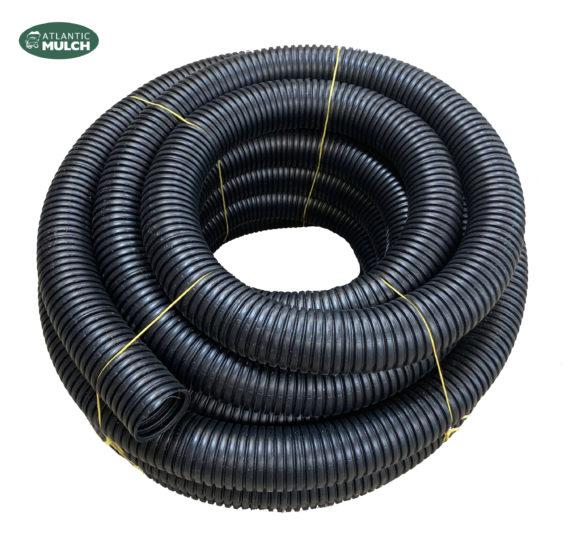 4 Solid Corrugated Pipe 100 Length Atlantic Mulch