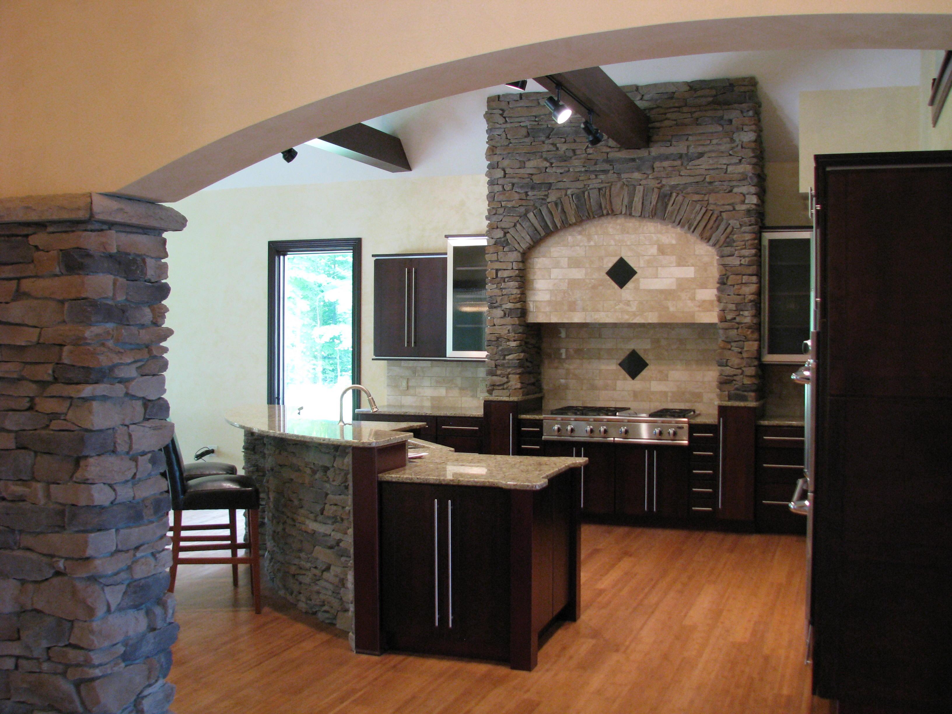 ledgestone in a kitchen
