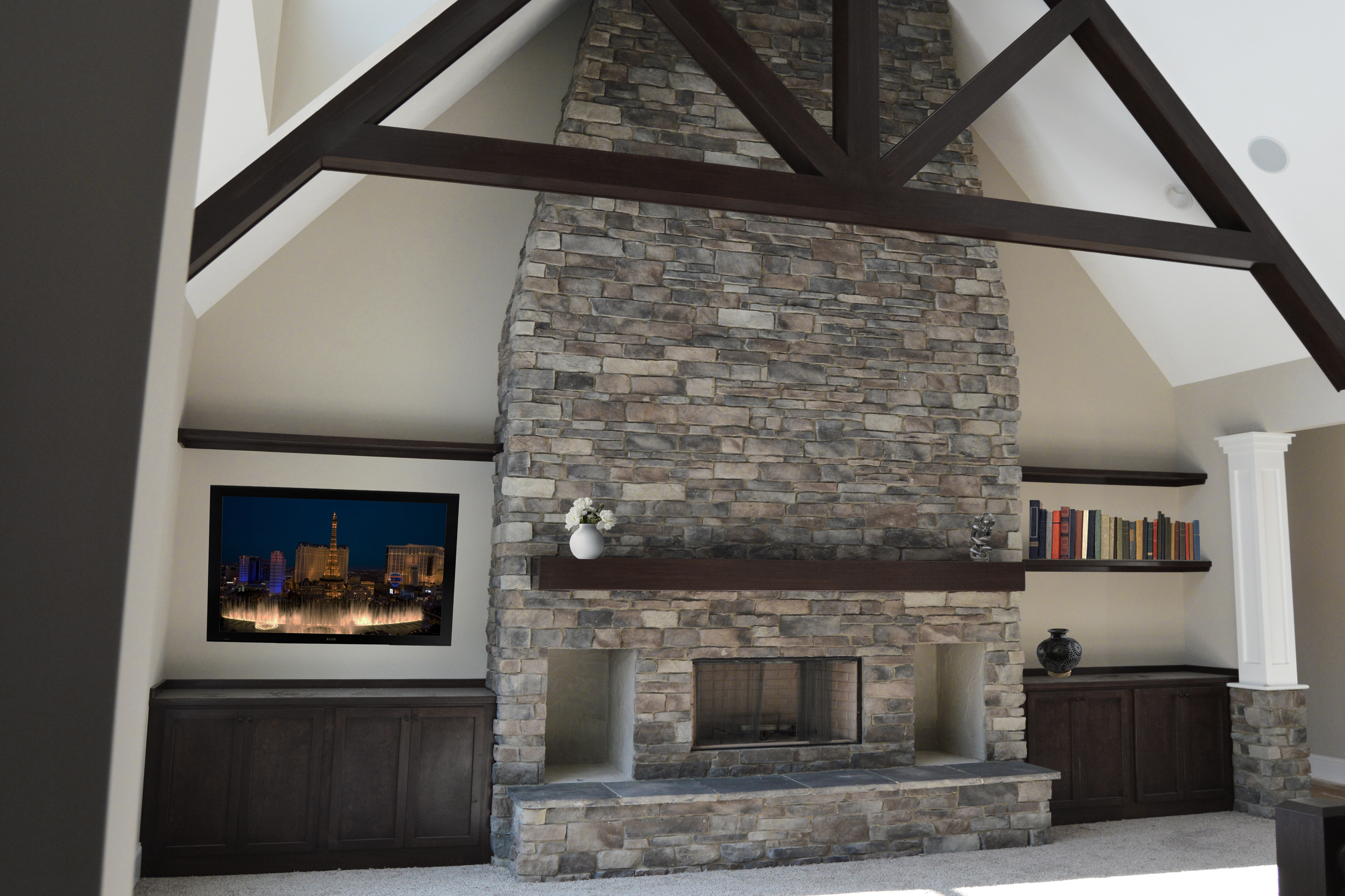 "Prestige ""weatherledge"" Charcoal indoor fireplace"