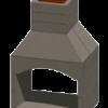 stone age fireplace cartoon image