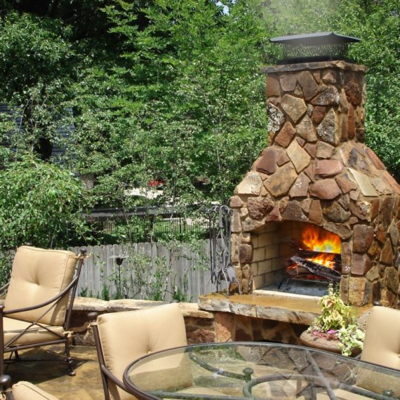 stone age fireplace real image