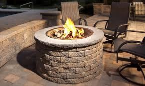 circular gas fire place