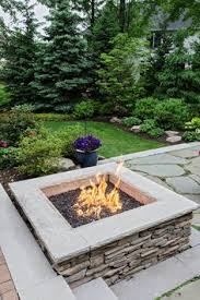 Square Gas Firepit Burner with lava rock