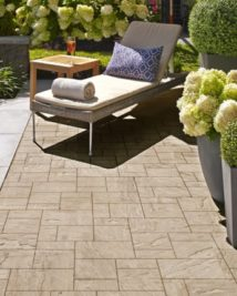 outdoor flooring beside a pool