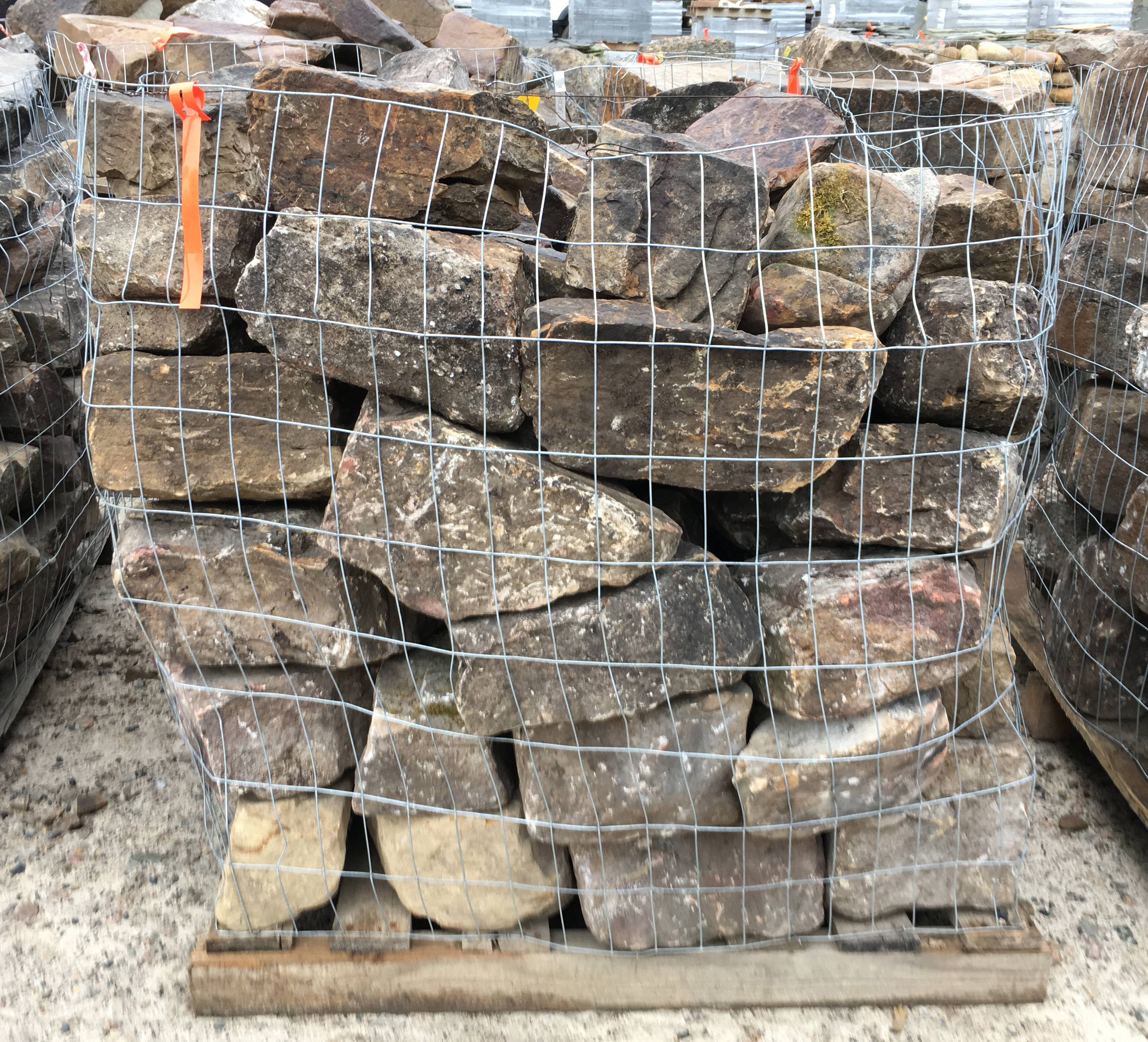 thick stack of stone