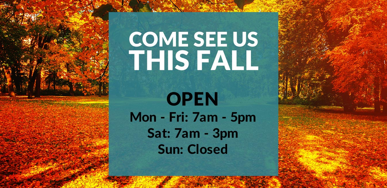 Atlantic Mulch Come See Us This Fall - Open M-F 7am-5pm, Sat 7am-3pm, Sun Closed